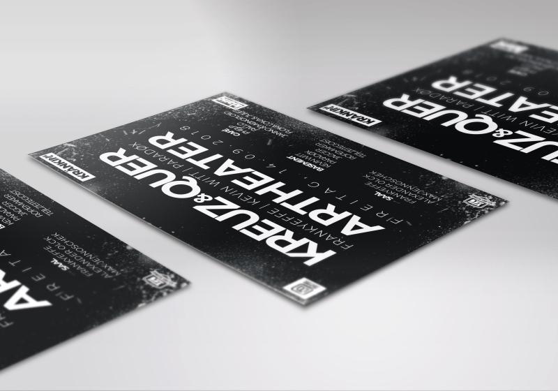 Flyerdesign (DIN A5) für eine Veranstaltung in Köln